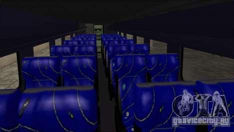 Marcopolo UUM Bus для GTA San Andreas вид изнутри