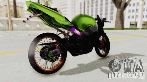 Kawasaki Ninja ZX-9R Drag для GTA San Andreas вид слева