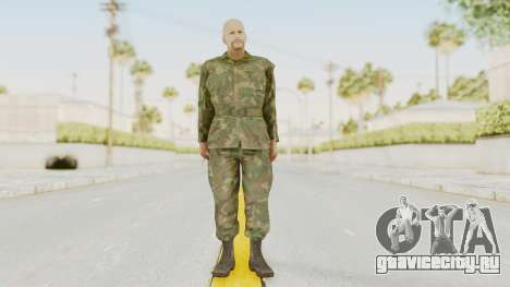 MGSV Ground Zeroes US Soldier No Gear v2 для GTA San Andreas второй скриншот