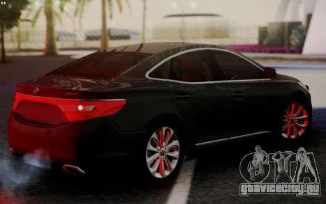 Hyundai Grandeur 2015 STOCK для GTA San Andreas вид сзади слева