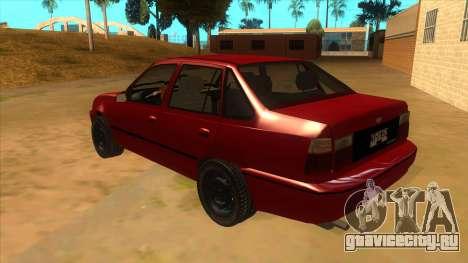 Daewoo Racer GTI для GTA San Andreas вид сзади слева