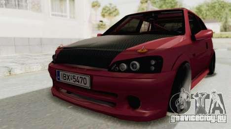 Peugeot 106 V2 RWD Greek Style для GTA San Andreas вид справа