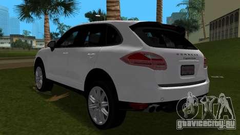 Porsche Cayenne 2012 для GTA Vice City вид сзади