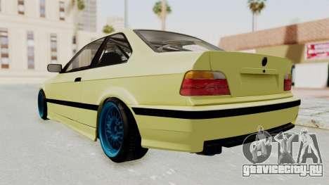 BMW M3 E36 Drift для GTA San Andreas вид сзади слева