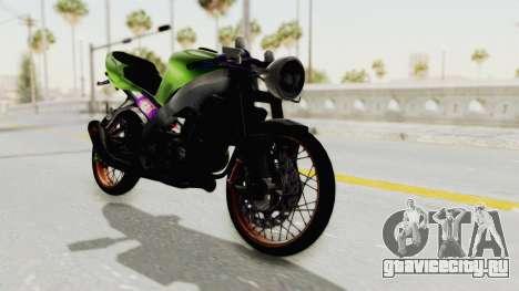 Kawasaki Ninja ZX-9R Drag для GTA San Andreas вид сзади слева