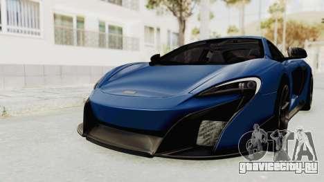 McLaren 675LT Coupe v1.0 для GTA San Andreas вид справа