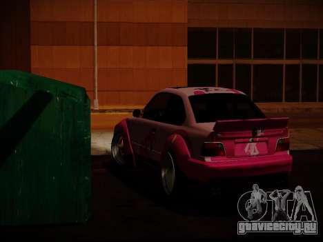 BMW M3 E36 Pinkie Pie для GTA San Andreas вид сзади