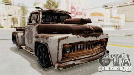 GTA 5 Slamvan Lowrider для GTA San Andreas вид сбоку
