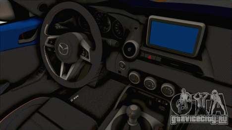 Mazda MX-5 Slammed для GTA San Andreas вид изнутри