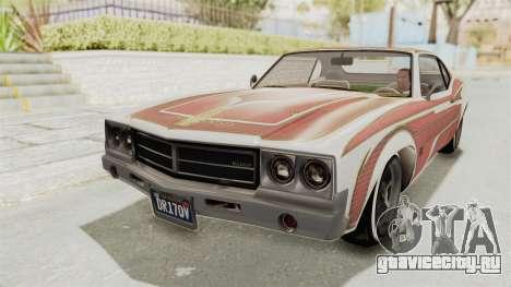 GTA 5 Declasse Sabre GT2 для GTA San Andreas вид снизу