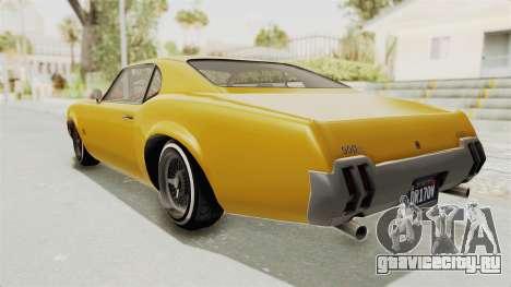 GTA 5 Declasse Sabre GT2 A IVF для GTA San Andreas вид слева