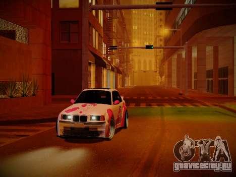 BMW M3 E36 Pinkie Pie для GTA San Andreas вид изнутри