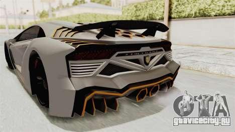 GTA 5 Pegassi Zentorno PJ для GTA San Andreas