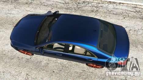 Mercedes-Benz S500 (W222) [yokohama] v2.1 для GTA 5 вид сзади
