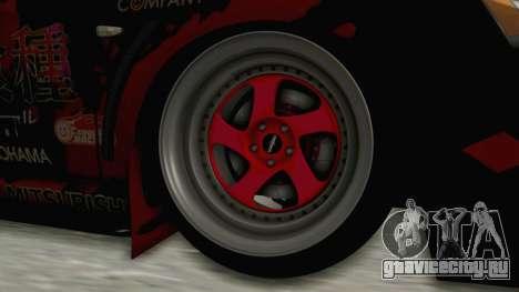 Mitsubishi Lancer Evolution X Ken Kaneki Itasha для GTA San Andreas вид сзади