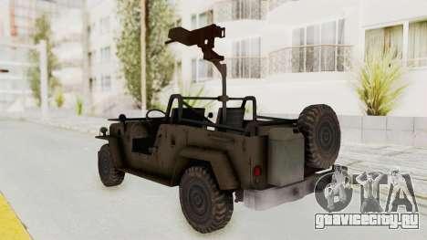 MGSV Jeep для GTA San Andreas вид слева