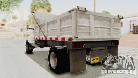 Chevrolet Kodiak Dumper Truck для GTA San Andreas вид слева
