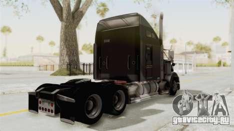 Kenworth T800 Centenario для GTA San Andreas вид сзади слева