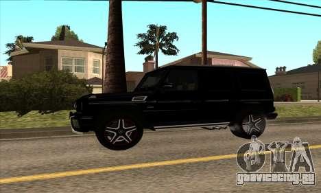 Mercedes G63 Biturbo для GTA San Andreas вид сзади слева