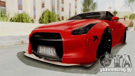 Nissan GT-R R35 Liberty Walk LB Performance v2 для GTA San Andreas вид сзади слева