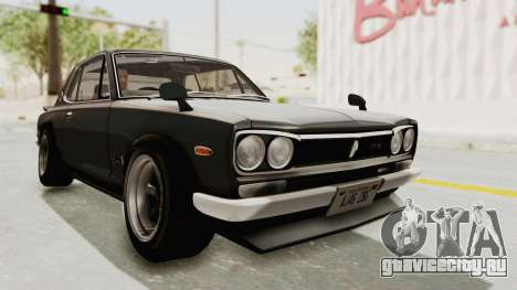 Nissan Skyline KPGC10 1971 Camber для GTA San Andreas вид справа