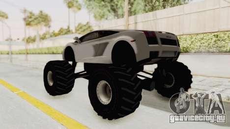 Lamborghini Gallardo 2005 Monster Truck для GTA San Andreas вид слева