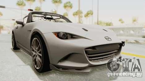 Mazda MX-5 Cup 2015 v2.0 для GTA San Andreas вид справа
