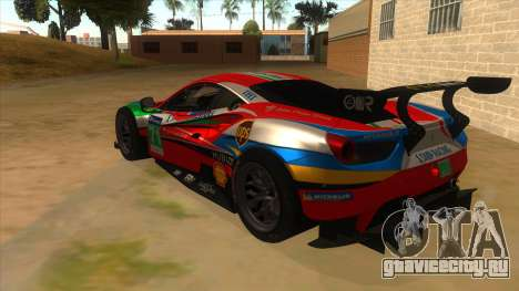 2016 Ferrari 488 GTE для GTA San Andreas вид сзади слева