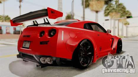 Nissan GT-R R35 Liberty Walk LB Performance v2 для GTA San Andreas вид справа