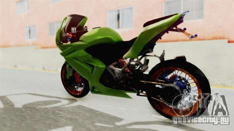 Kawasaki Ninja 250R Asian Style для GTA San Andreas вид сзади слева