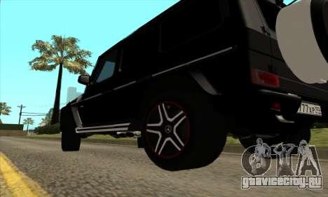 Mercedes G63 Biturbo для GTA San Andreas вид изнутри