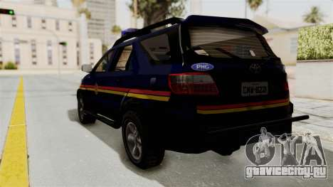 Toyota Fortuner JPJ Dark Blue для GTA San Andreas вид слева