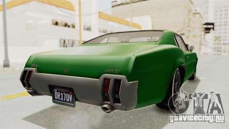 GTA 5 Declasse Sabre GT2 для GTA San Andreas вид сзади слева