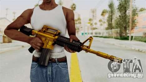 M4A1 Gold для GTA San Andreas третий скриншот
