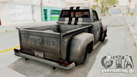 GTA 5 Slamvan Stock PJ2 для GTA San Andreas вид слева