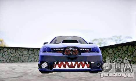 Subaru Impreza WRX STI Dark Knight для GTA San Andreas вид справа