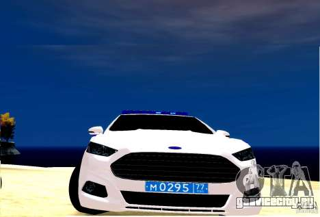 Ford Mondeo Russian Police для GTA 4 вид слева