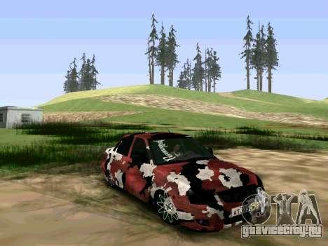 Lada Priora Камуфляж для GTA San Andreas вид сзади слева