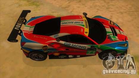 2016 Ferrari 488 GTE для GTA San Andreas вид изнутри