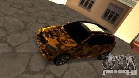 BMW X5M ( Davidich ) для GTA San Andreas вид сзади слева