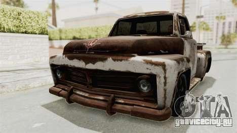 GTA 5 Slamvan Stock PJ2 для GTA San Andreas вид сбоку