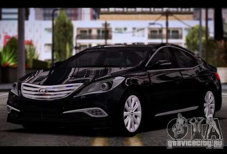 Hyundai Grandeur 2015 STOCK для GTA San Andreas вид сзади