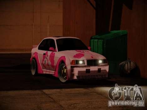 BMW M3 E36 Pinkie Pie для GTA San Andreas вид справа