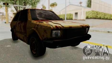 Zastava Yugo Koral 55 Rusty для GTA San Andreas вид справа
