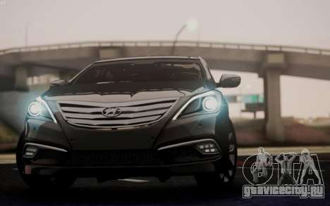 Hyundai Grandeur 2015 STOCK для GTA San Andreas вид изнутри