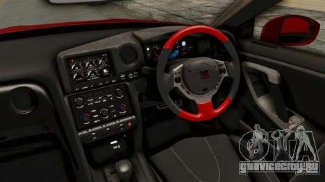 Nissan GT-R R35 Liberty Walk LB Performance v2 для GTA San Andreas вид изнутри