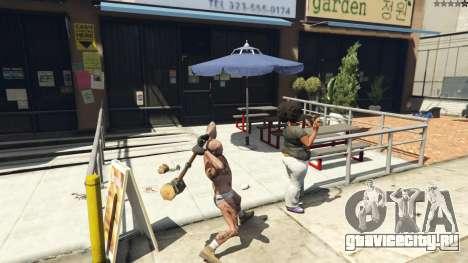 Wooden Fantasy Hammer для GTA 5 шестой скриншот