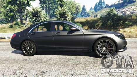 Mercedes-Benz S500 (W222) [michelin] v2.1 для GTA 5 вид слева