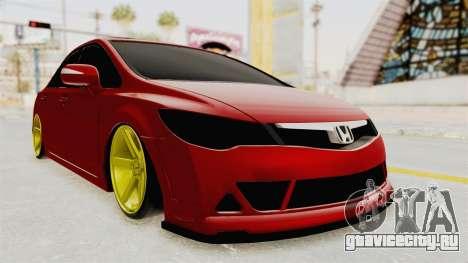 Honda Civic FD6 для GTA San Andreas вид справа