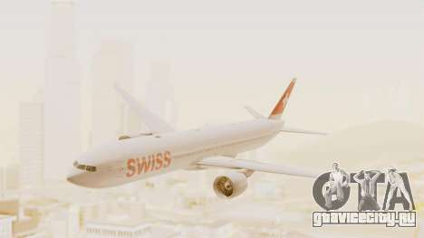 Boeing 777-300ER Swiss International Air Lines для GTA San Andreas вид сзади слева